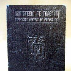 Documentos antiguos: CARTILLA, MINISTERIO DE TRABAJO, PROTECCION A FAMILIAS NUMEROSAS, 1945, TITULO DE BENEFICIARIO. Lote 31378509