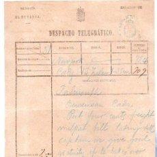 Documentos antiguos: DESPACHO TELEGRÁFICO, ORIGEN NEW YORK -DESTINO CÁDIZ, 1880. Lote 31536152