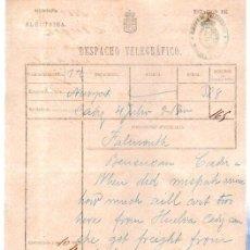 Documentos antiguos: DESPACHO TELEGRÁFICO, ORIGEN NEW YORK -DESTINO CÁDIZ, 1880. Lote 31536160