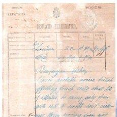 Documentos antiguos: DESPACHO TELEGRÁFICO, ORIGEN LONDON -DESTINO CÁDIZ, 1880. BENSUSAN. Lote 31536180