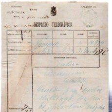 Documentos antiguos: DESPACHO TELEGRÁFICO, ORIGEN NEW YORK -DESTINO CÁDIZ, 1878. BENSUSAN. Lote 31536260
