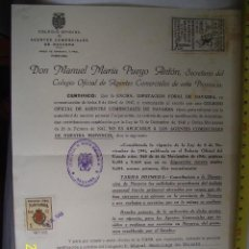 Documentos antiguos: VALE O DOCUMENTO CON DOS VIÑETAS EXCEPCIONAL DOCUMENTO RARO. Lote 31591819