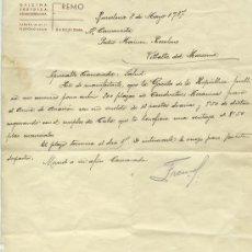 Documentos antiguos: GUERRA CIVIL: CARTA DE BARCELONA 8 MAYO 1937. Lote 52959092