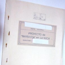 Documentos antiguos: PLANOS DE CONSTRUCCIÓN EN UN ESTABLECIMIENTO DE ·· PROYECTO BARBACOA · LA NUCIA · ALICANTE. Lote 31758892