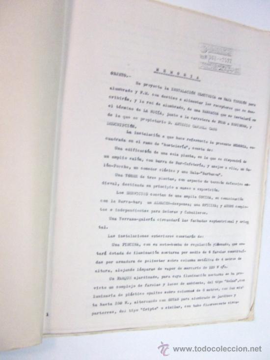 Documentos antiguos: PLANOS DE CONSTRUCCIÓN EN UN ESTABLECIMIENTO DE ·· PROYECTO BARBACOA · LA NUCIA · ALICANTE - Foto 3 - 31758892