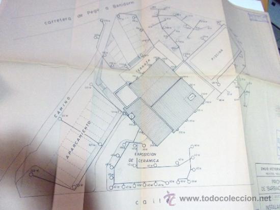 Documentos antiguos: PLANOS DE CONSTRUCCIÓN EN UN ESTABLECIMIENTO DE ·· PROYECTO BARBACOA · LA NUCIA · ALICANTE - Foto 17 - 31758892