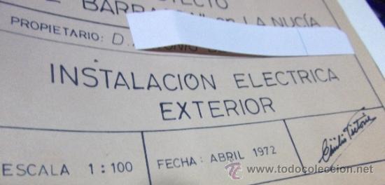 Documentos antiguos: PLANOS DE CONSTRUCCIÓN EN UN ESTABLECIMIENTO DE ·· PROYECTO BARBACOA · LA NUCIA · ALICANTE - Foto 6 - 31758892