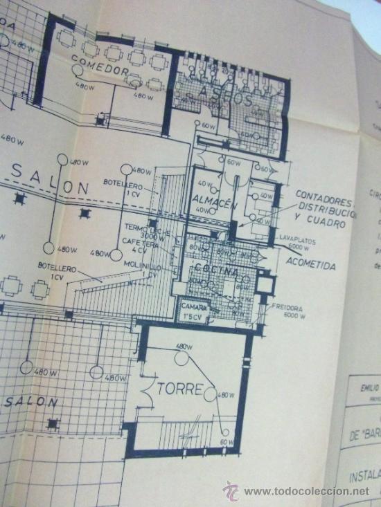 Documentos antiguos: PLANOS DE CONSTRUCCIÓN EN UN ESTABLECIMIENTO DE ·· PROYECTO BARBACOA · LA NUCIA · ALICANTE - Foto 9 - 31758892