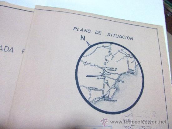 Documentos antiguos: PLANOS DE CONSTRUCCIÓN EN UN ESTABLECIMIENTO DE ·· PROYECTO BARBACOA · LA NUCIA · ALICANTE - Foto 20 - 31758892