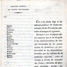 Documentos antiguos: 1810, GUERRA DE LA INDEPENDENCIA, RECAUDACIÓN DE DIEZMOS, FRUTOS Y DERECHOS. Lote 31904765