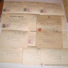 Documentos antiguos: LOTE DE CALIFICACIONES, INSTITUTO NACIONAL DE 2ª ENSEÑANZA DE CADIZ 1938. Lote 31981882