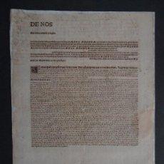 Documentos antiguos: BULA. INCUNABLE. IMPRESO EN ROMA 1474 TAMAÑO 44X32CM. RESTAURADO.¡¡¡RARISIMO!!! ALCALA DE HENARES. Lote 32046209