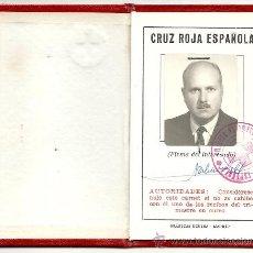 Documentos antiguos: CARNET CRUZ ROJA ESPAÑOLA.1-3-69.. Lote 32080052
