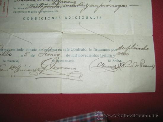 Documentos antiguos: CONTRATO DE LA ASOCIACION DE REPRESENTANTES ESPAÑOLES DE ESPECTACULOS DE VARIEDADES - 1936 - Foto 3 - 32295916