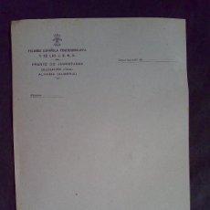 Documentos antiguos: DOCUMENTO EN BLANCO CON MEMBRETE FALANGE TRADICIONALISTA Y DE LAS J.O.N.S.. Lote 104507643
