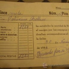 Documentos antiguos: ANTIGUO RECIBO . Lote 32960022