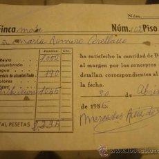 Documentos antiguos: ANTIGUO RECIBO . Lote 32960029