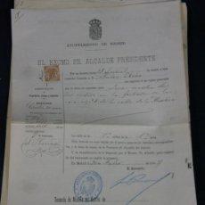 Documentos antiguos: AYUNTAMIENTO DE MADRID 1909 LICENCIA ROTULO ESTABLECIMIENTO COMERCIAL. Lote 33030632