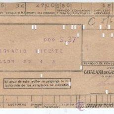 Alte Dokumente - recibo de catalana de gas y electricidad sa del 1943 - 33246080