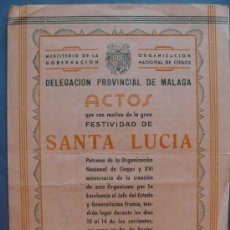 Documentos antiguos: DOCUMENTO DEL MINISTERIO DE GOBERNACIÓN. AÑO 1954. SANTA LUCÍA. ORGANIZACIÓN NACIONAL DE CIEGOS . Lote 33230005