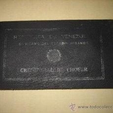 Documentos antiguos: TITULO DE CHOFER DE LA REPUBLICA DE VENEZUELA . Lote 33252763