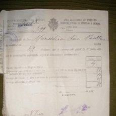 Documentos antiguos: CONTRIBUCION TERRITORIAL.AÑO 1922-23. BARRUELO-PALENCIA-.. Lote 33339951