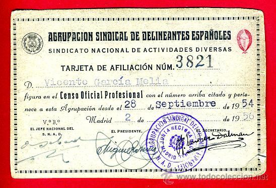 Carnet agrupacion sindical delineantes espa ol comprar en todocoleccion 33430223 - Delineante valencia ...
