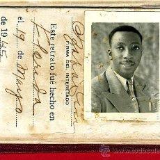 Documentos antiguos: CARNET, MASON , MASONERIA , LOGIA LA VERDAD DEL PROGRESO, CAMAGUEY , CUBA 1946 , ORIGINAL. Lote 33430491