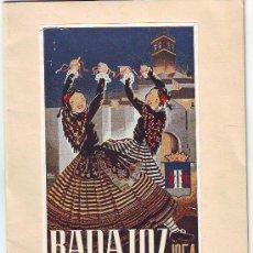 Documentos antiguos: BADAJOZ. PROGRAMA DE FERIAS Y FIESTAS DE 1954. Lote 33500513