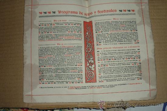 ANTIGUO PROGRAMA FIESTAS MAYO ALCALA DE HENARES -MADRID 1905 (Coleccionismo - Documentos - Otros documentos)