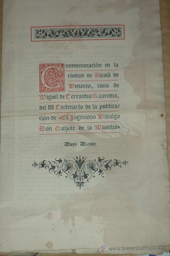 Documentos antiguos: antiguo programa fiestas mayo ALCALA DE HENARES -MADRID 1905 - Foto 2 - 34522090