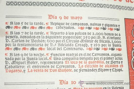 Documentos antiguos: antiguo programa fiestas mayo ALCALA DE HENARES -MADRID 1905 - Foto 3 - 34522090
