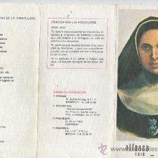 Documentos antiguos: TRIPTICO RELIGIOSO - DE ALFONSA CAVIN - 1816-1868 - MISIONERA DE LA INMACULADA CONCEPCIÓN. Lote 33820076