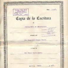 Documentos antiguos: ESCRITURA COMPRA-VENTA EMBARCACION. Lote 34510752
