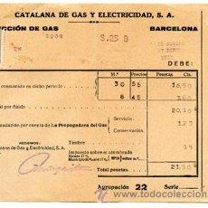 Alte Dokumente - Antiguo recibo del GAS de Catalana de Gas y Electricidad , S.A. - Noviembre-Diciembre año 1933 - 34546762