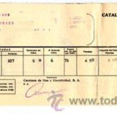 Alte Dokumente - Antiguo recibo ELECTRICIDAD-ALUMBRADO · Catalana de Gas y Electricidad, S.A. - JULIO-AGOSTO año 1934 - 34547102