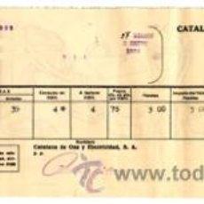 Alte Dokumente - Recibo de ELECTRICIDAD-ALUMBRADO de Catalana de Gas y Electricidad, S.A. - Diciembre-Enero año 1934 - 34547826