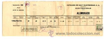 RECIBO ELECTRICIDAD-ALUMBRADO DE CATALANA DE GAS Y ELECTRICIDAD, S.A. NOVIEMBRE-DICIEMBRE AÑO 1933 (Coleccionismo - Documentos - Otros documentos)