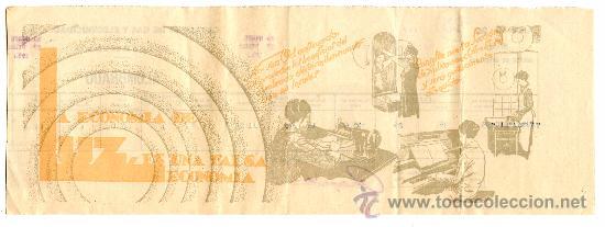 Documentos antiguos: Recibo ELECTRICIDAD-ALUMBRADO de Catalana de Gas y Electricidad, S.A. Noviembre-Diciembre año 1933 - Foto 2 - 34548047