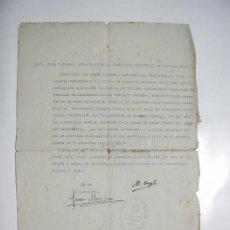 Documentos antiguos: CARTA ORIGINAL RECOMENDACION DE FRANCISCO BOSCÁ, EXTINGUIDA ASOCIACION VALENCIANA DE CARIDAD,. Lote 34635485