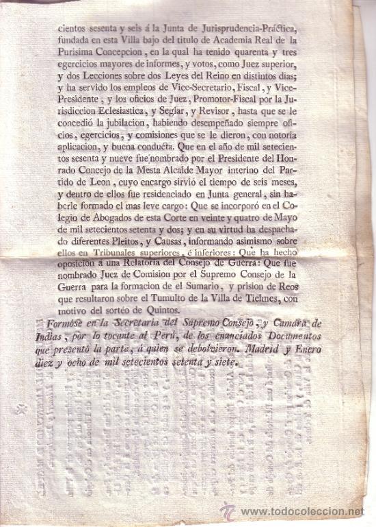 Documentos antiguos: DOCUMENTO RELACION DE LOS MERITOS Y EXERCICIOS LITERARIOS DEL LICENCIADO D. MIGUEL CHRISTOVAL..... - Foto 3 - 34640067