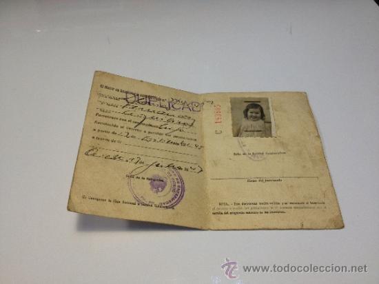 Documentos antiguos: CARNET DE IDENTIDAD 1945 COMPAÑÍA ASTURIANA DE MINAS - Foto 3 - 35269427