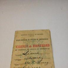 Documentos antiguos: CARNET DE IDENTIDAD 1945 COMPAÑÍA ASTURIANA DE MINAS. Lote 35269427