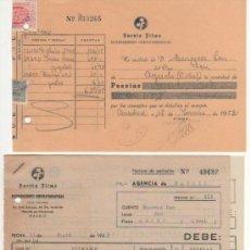 Documentos antiguos: LOTE 4 DOCUMENTOS DISTRIBUCIONES CINEMATOGRÁFICAS SUEVIA FILMS. VER FOTOS. Lote 37977496
