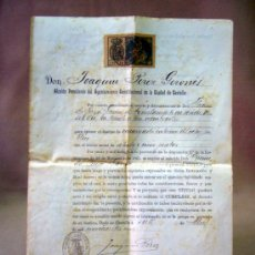 Documentos antiguos: DOCUMENTO, DOCUMENTO ANTIGUO, TITULO DE ENCARGADO INTERNO DEL RELOJ PUBLICO, 1901. Lote 35377393