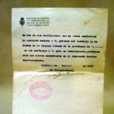 Documentos antiguos: DOCUMENTO, DOCUMENTO ANTIGUO, MINISTERIO DE HACIENDA, 1920, NOMBRAMIENTO. Lote 35377510