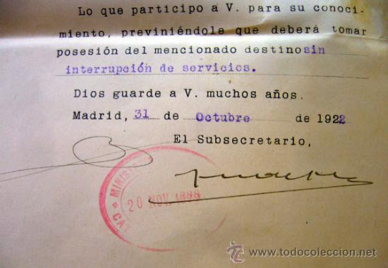 Documentos antiguos: DOCUMENTO, DOCUMENTO ANTIGUO, MINISTERIO DE HACIENDA, 1922, REAL ORDENANZA - Foto 2 - 35377485