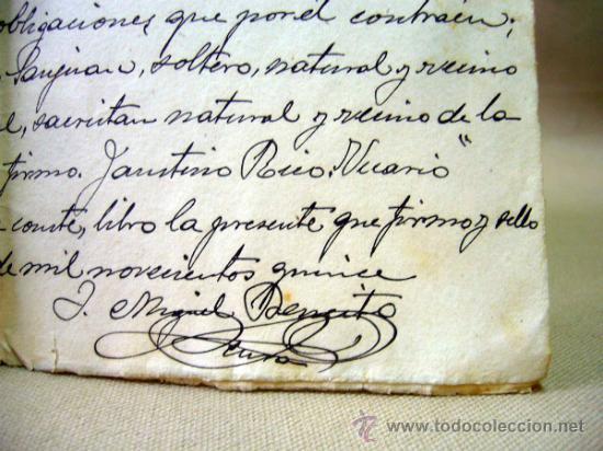 Documentos antiguos: DOCUMENTO, DOCUMENTO ANTIGUO, BAUTISMO, 1915, ALICANTE - Foto 3 - 35377446
