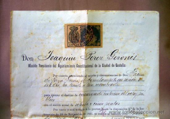 Documentos antiguos: DOCUMENTO, DOCUMENTO ANTIGUO, TITULO DE ENCARGADO INTERNO DEL RELOJ PUBLICO, 1901 - Foto 8 - 35377393