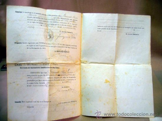 Documentos antiguos: DOCUMENTO, DOCUMENTO ANTIGUO, TITULO DE ENCARGADO INTERNO DEL RELOJ PUBLICO, 1901 - Foto 4 - 35377393